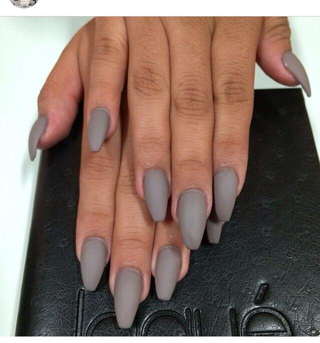 matte grey nails nails pinterest nagelschere. Black Bedroom Furniture Sets. Home Design Ideas