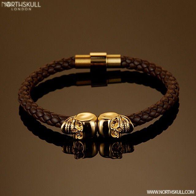 Northskull Skull bracelet - Brown RsuHdI