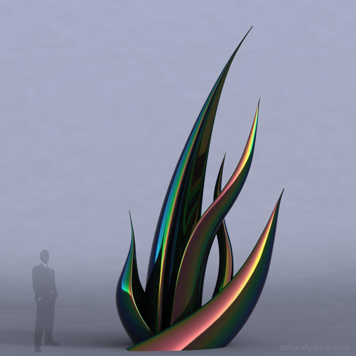 emergence modern sculpture  mike fields bronzes  sculpture  - succulentmodernstatuepublicart