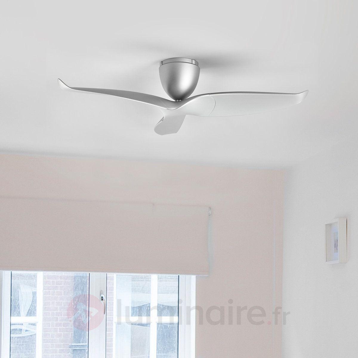 Ventilateur Plafond Airvolution A 3 Pales Argente Ventilateur Plafond Ventilateur Plafond Design Et Plafond Design