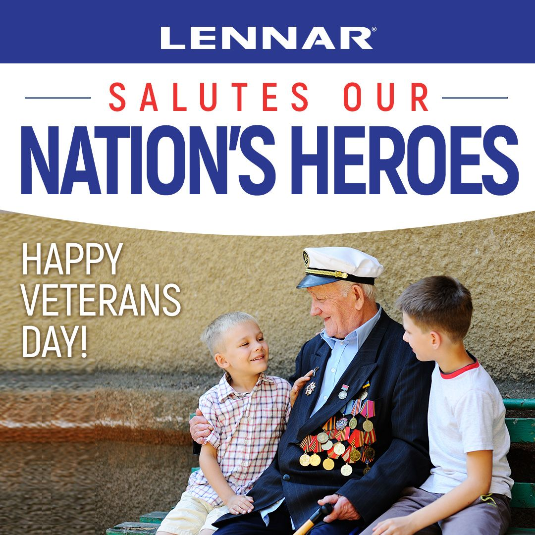 Lennar wishes all our Veterans a very Happy Veterans Day! Thank you for serving our country! #Home #LennarHomes #Lennar #Miami #NewHome #HomeDesign #DreamHome #HomeSweetHome #SouthFlorida #HomeBuilder #RealEstate #Veterans #VeteransDay