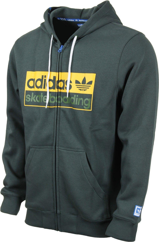 Adidas Big Logo Zip Hoodie Men's Clothing > Hoodies