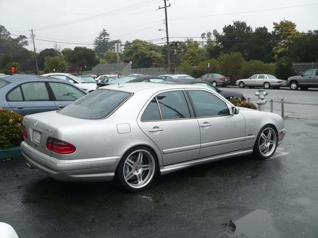 Mercedes benz w210 e55 amg on 19 dpe wheels