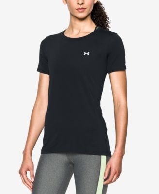 Under Armour Short-Sleeve HeatGear Top  Same with shirt.  Need a couple of Lg looser shirts.  Have black and gray and would love orange and another color.