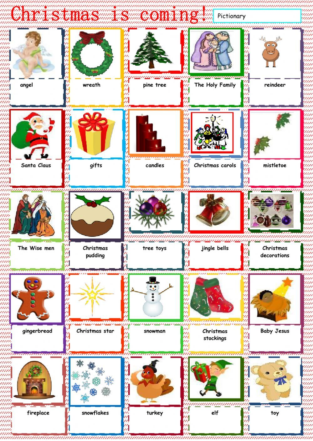 christmas vocabulary interactive worksheet christmas esl worksheets pinterest worksheets. Black Bedroom Furniture Sets. Home Design Ideas