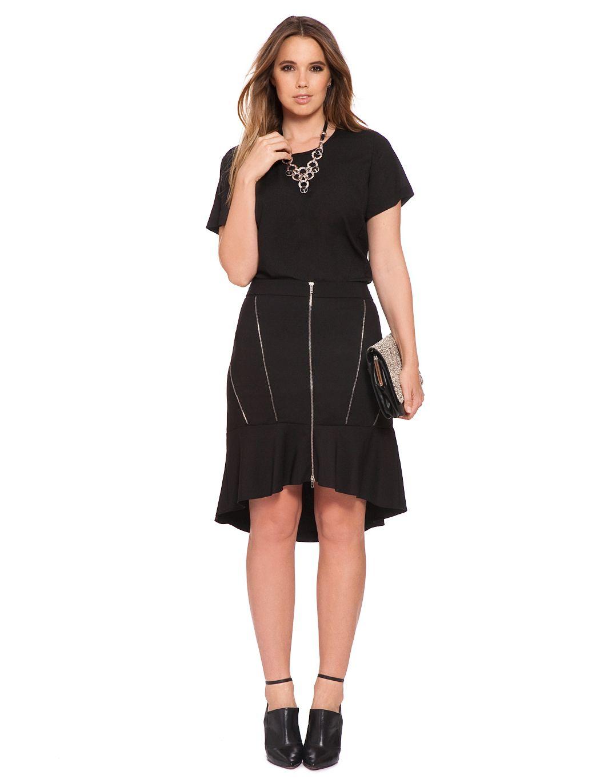 07947da7fe4 Zipper Flounce Skirt