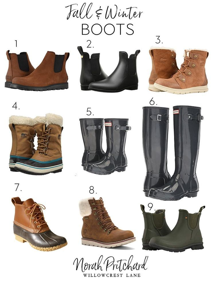 Fall and Winter Boots that Actually Keep You Warm and Dry - Norah Pritchard | Willowcrest Lane #winterboots