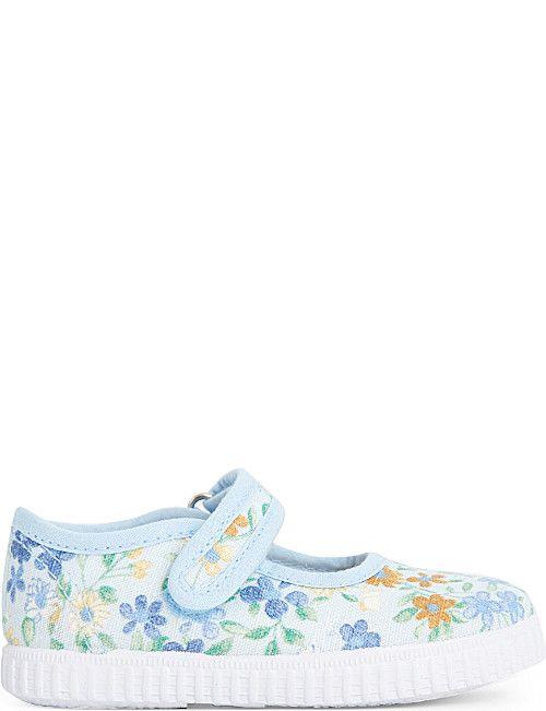 7efb26eae81d STEP2WO Greta floral canvas mary jane shoes