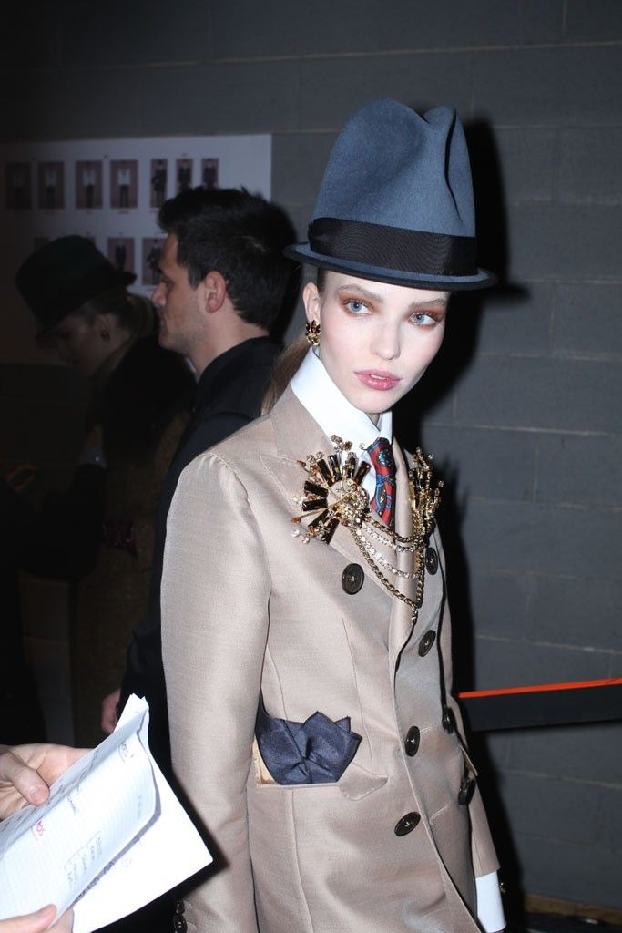 Backstage at Dsquared2 RTW Fall 2013