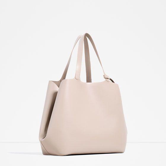 e9c2c59af17 Image 2 of CONTRASTING TOTE BAG from Zara | handbags | Pinterest ...