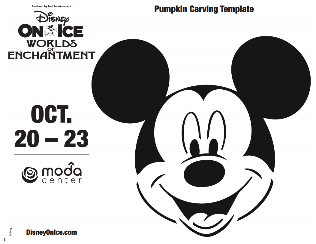 Printable: Mickey Mouse Pumpkin Carving Template | Pinterest ...