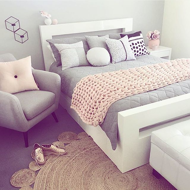 Loving The Colour Combo Of Light Pink And Grey Bedroom Decor Bedroom Design Cute Bedroom Ideas