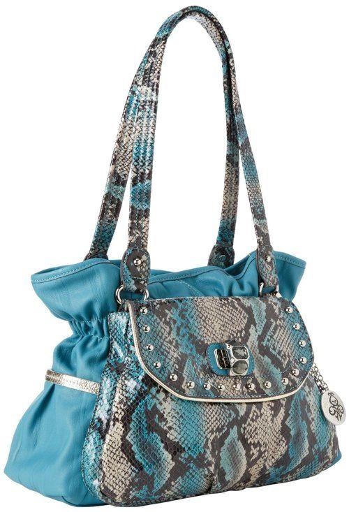 Kathy Van Zeeland Uptown Shoulder Bag In Ozone So Pretty