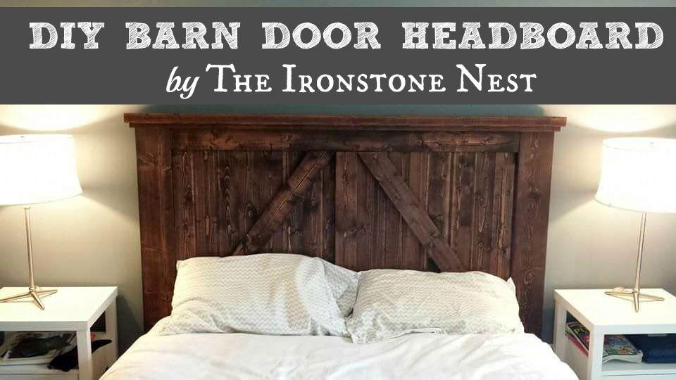 Diy Barn Door Headboard By The Ironstone Nest Www