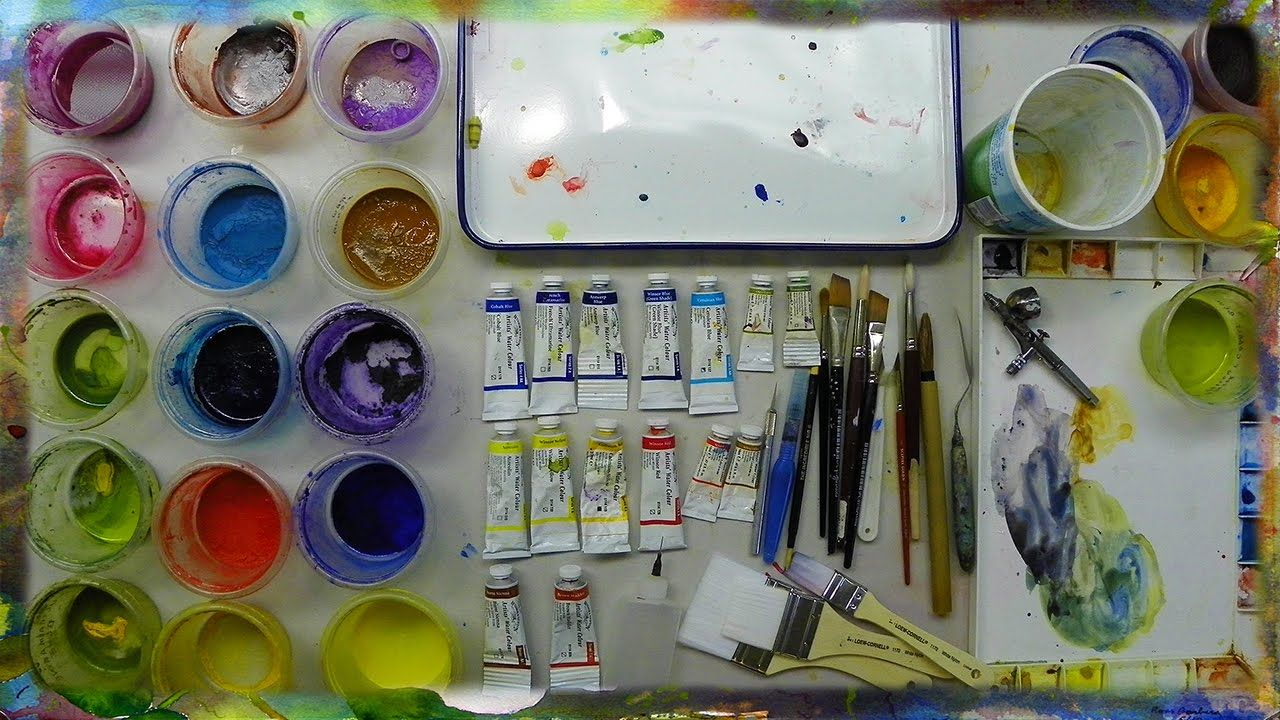 Tools And Materials For Watercolor Painting By Ross Barbera