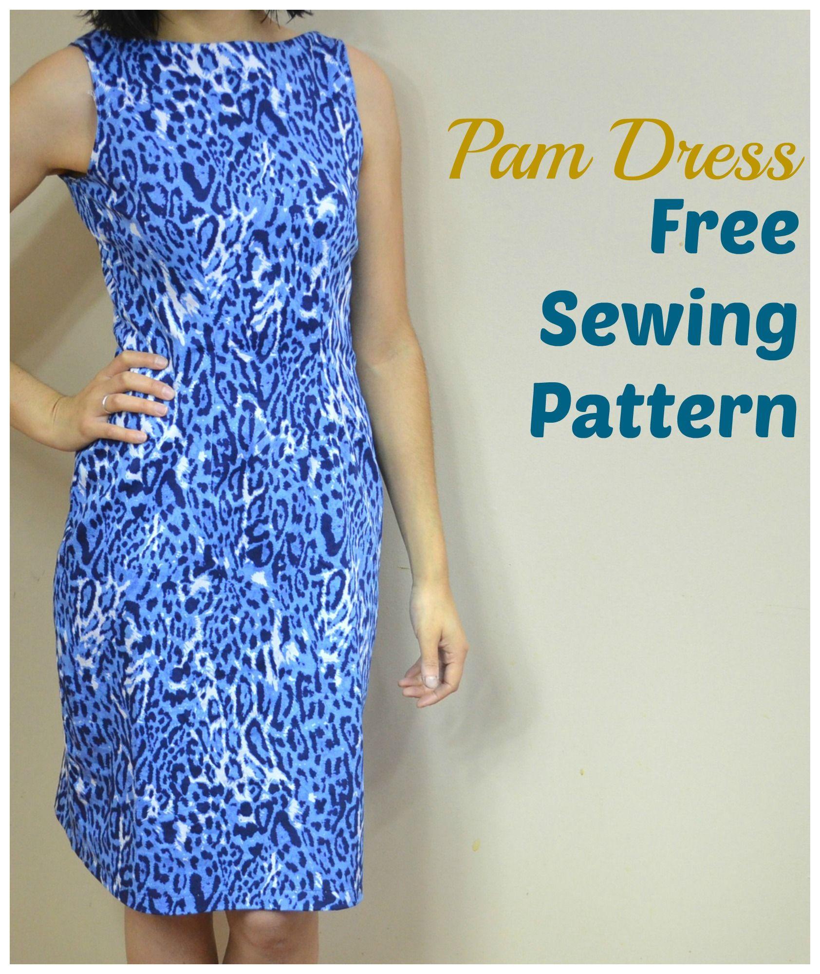 Pam Dress Pattern | Nähen schnittmuster, Kleidung nähen und Freebooks