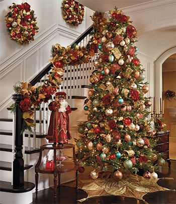 Ornament Sets Ornament Collections Unique Ornament Sets Christmas Staircase Christmas Decorations Beautiful Christmas Trees