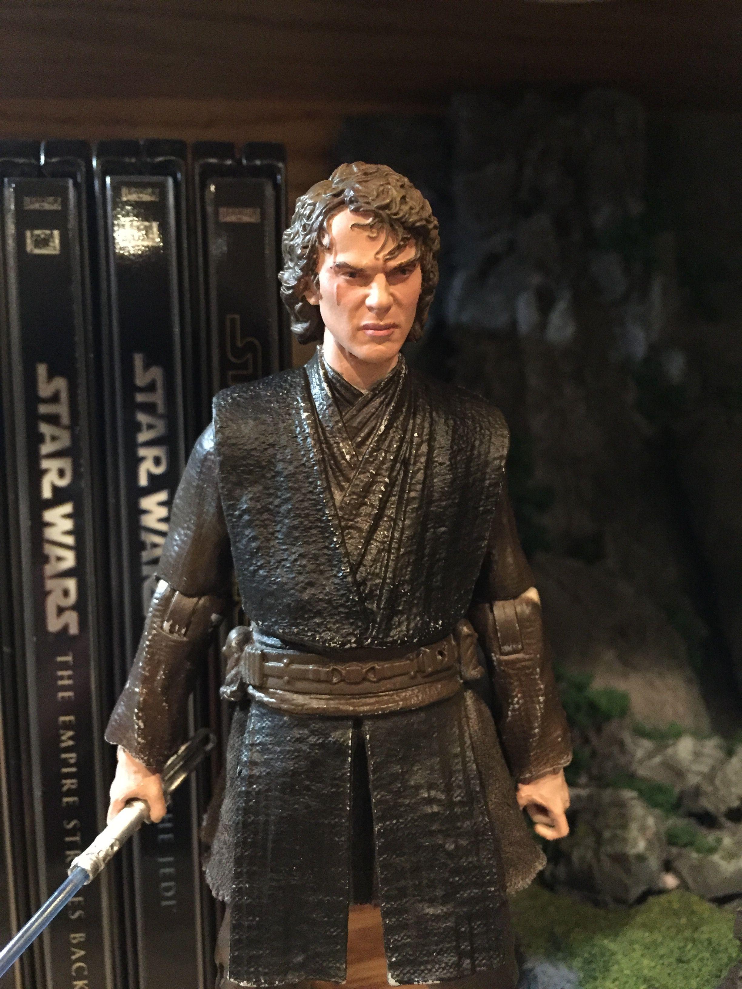Anakin Skywalker Star Wars Black Series 6 Inch Custom Repaint Action