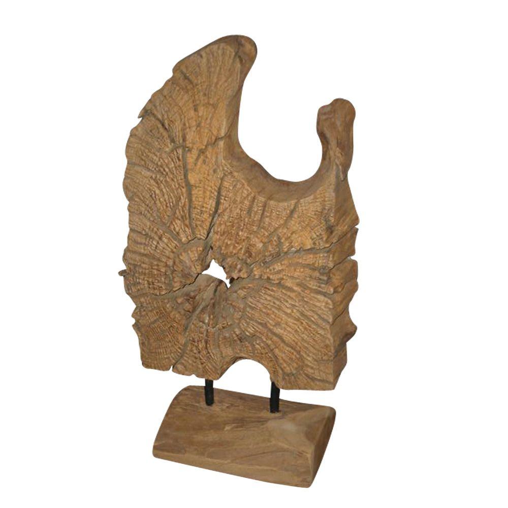 Deko Skulpturen Modern natürlich dekorieren mit teakholz wohnaccessoires holzdeko