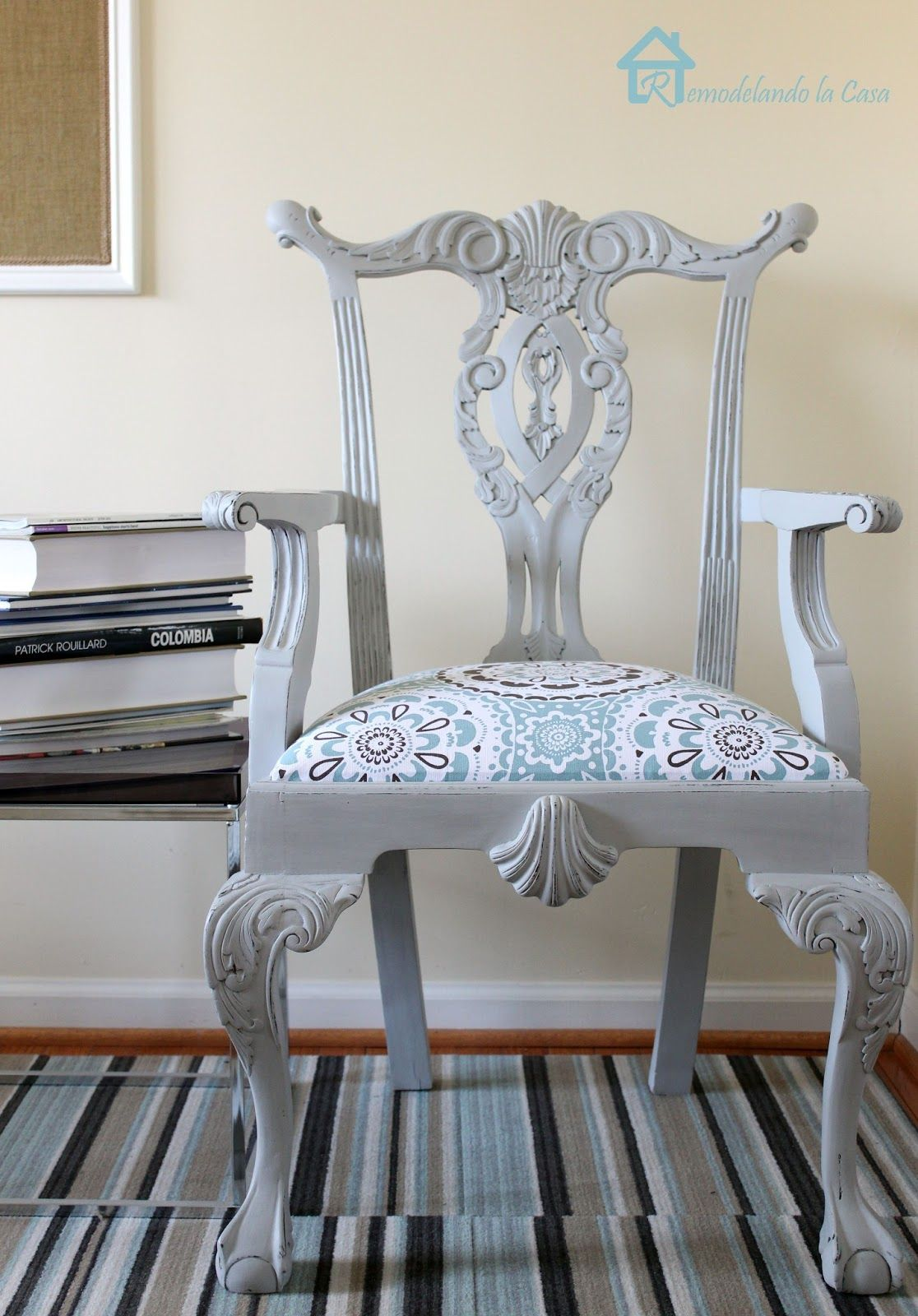 My First Experience With Chalk Paint   Chippendale Chair