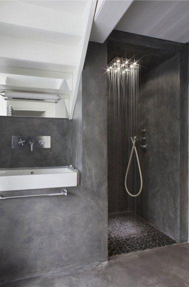 Idées déco pour une salle de bain grise Showers, Salons and Interiors