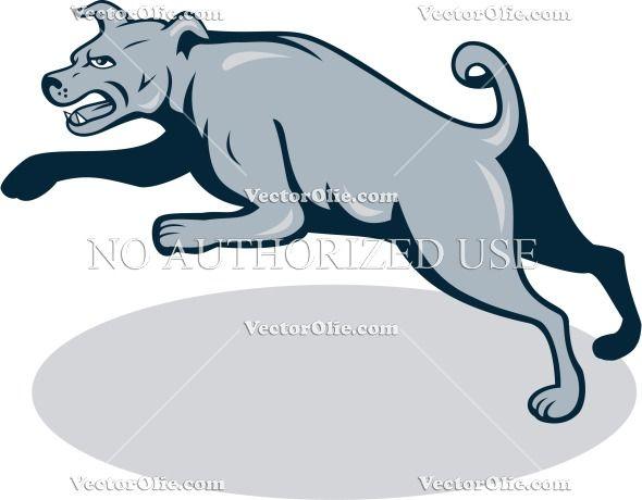 Angry, Barking, Canine, Cartoon, Dog, Head, Illustration, Isolated,