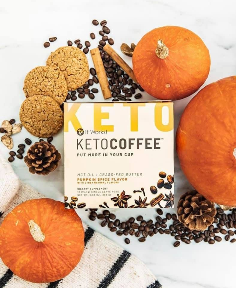 IT WORKS PUMPKIN SPICE KETO COFFEE PODS #pumpkinspiceketocoffee
