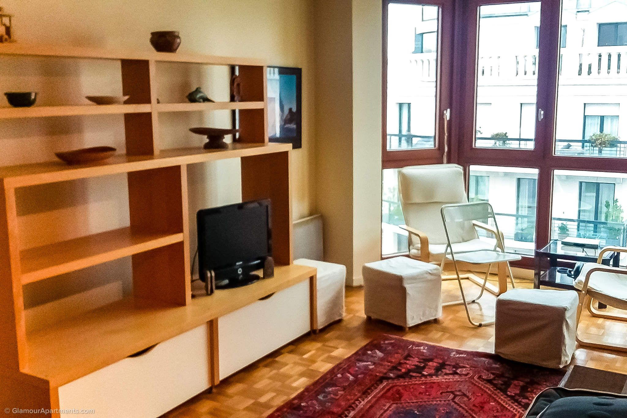 Furnished 1bedroom apartment for rent at Rue Ampère in