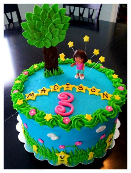 Girls Birthday Cake Dora Cake Anuska Pinterest