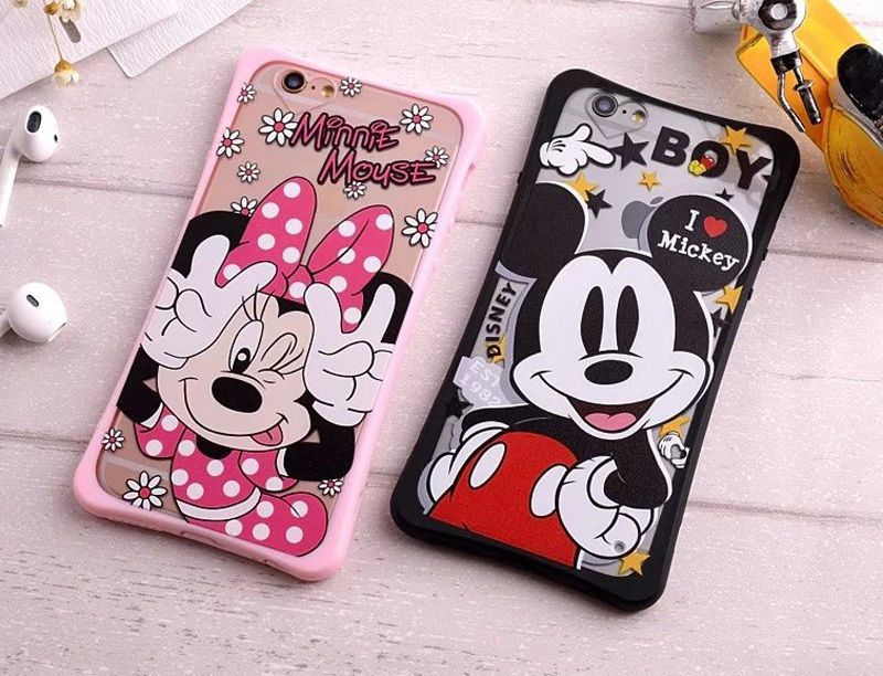 premium selection a706b 8be8e Cute Minnie Mickey Mouse Shockproof case cover Pouch for Apple ...