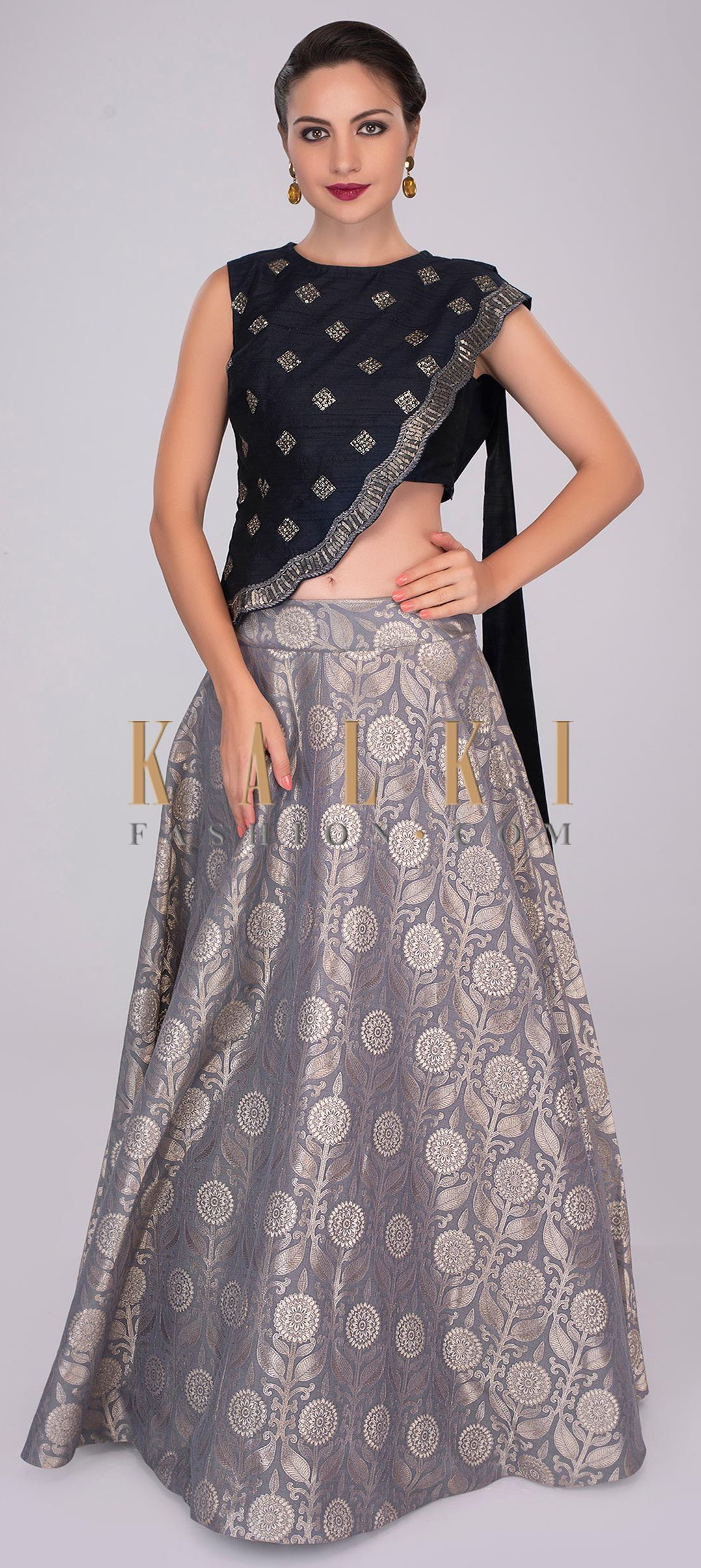 7027c013e1 Long Skirt With Crop Top Buy Online – DACC