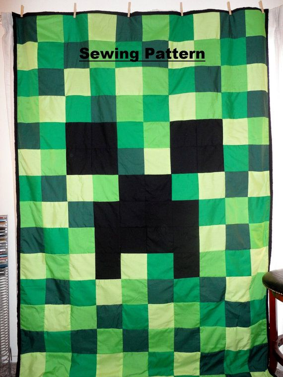 Quilt Pattern To Make Creeper Twin Full Queen Quilt And Pillowcase