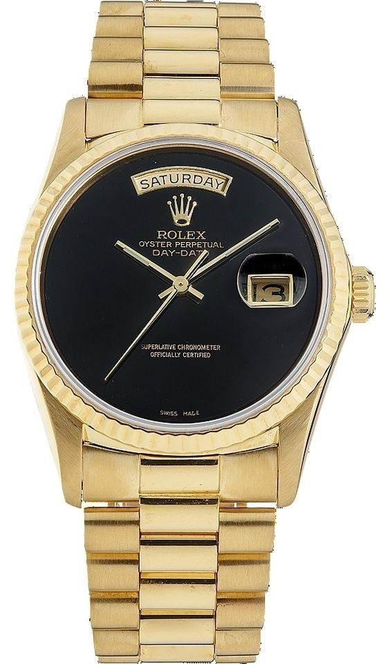 4789fb2aa20 Day-Date 18038 18K Yellow Gold Black Dial Men's Presidential Watch (SQ)
