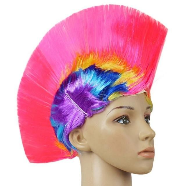 Hot Mohawk Haar Perücke Mohican Punk Rock Fancy Dress Cosplay Party Kostüm