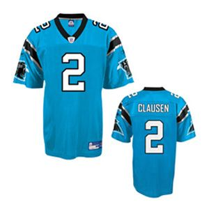 100% authentic a8f7a c4642 Jimmy Clausen Authentic Jersey, Blue #2 Carolina Panthers ...