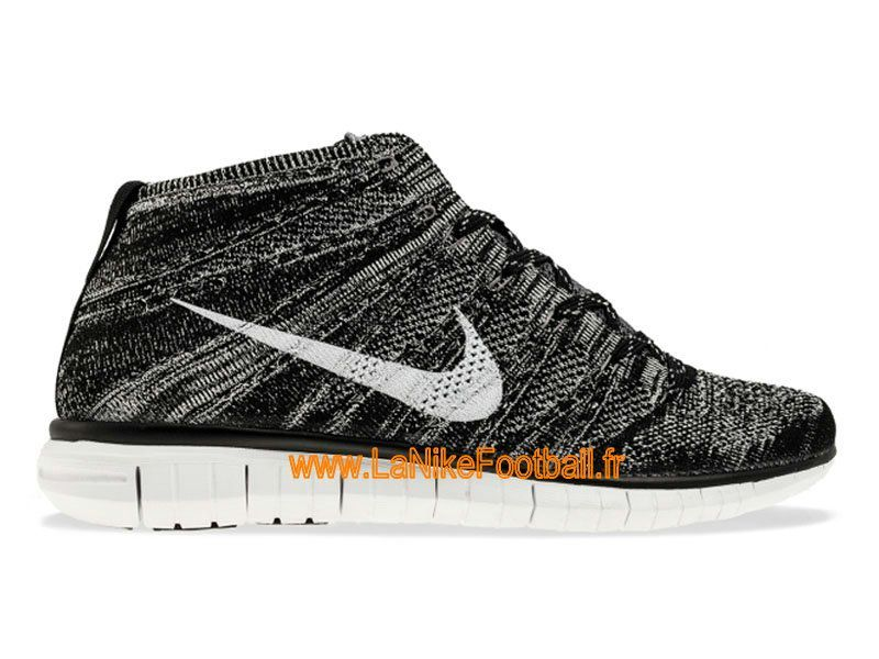 f44d8d7b8ed1 Nike Free Flyknit Chukka Chaussures Nike Running Pas Cher Pour Homme  Black Pure Platinum-Sail-Dark Grey 639700-001