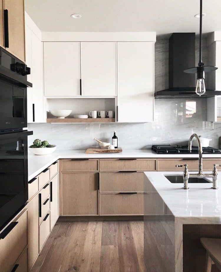 41 Most Popular Two Tone Kitchen Cabinets For 2018 These Minimalist Kitchen Ideas Kitchen Remodel Layout Contemporary Kitchen Design Interior Design Kitchen