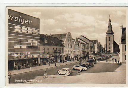 Insterburg Ostpreussen Alter Markt 1943 Street View Scenes Europe
