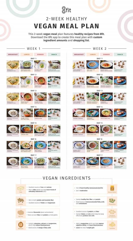 vegan model diet plan