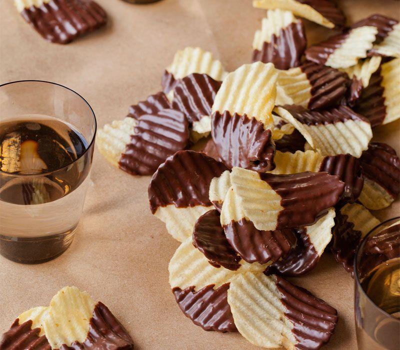Πατατάκια με επικάλυψη σοκολάτας
