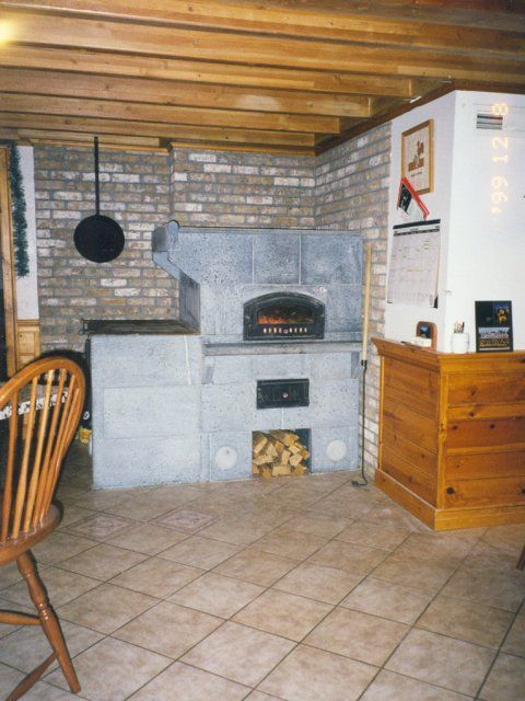 HU3200 Tulikivi Soapstone Bakeoven/Fireplace Combination