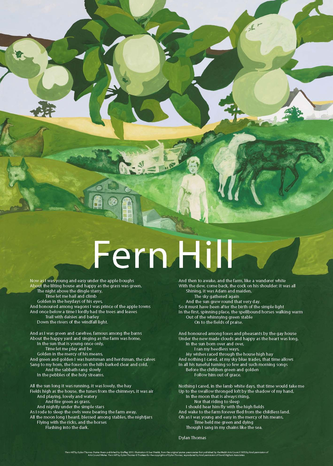 a literary analysis of fern hill by dylan thomas Dylan thomas´s fern hill as an autobiographical anglo-welsh poem - carol petri - seminar paper - english language and literature studies - literature - publish your bachelor's or master's thesis, dissertation, term paper or essay.