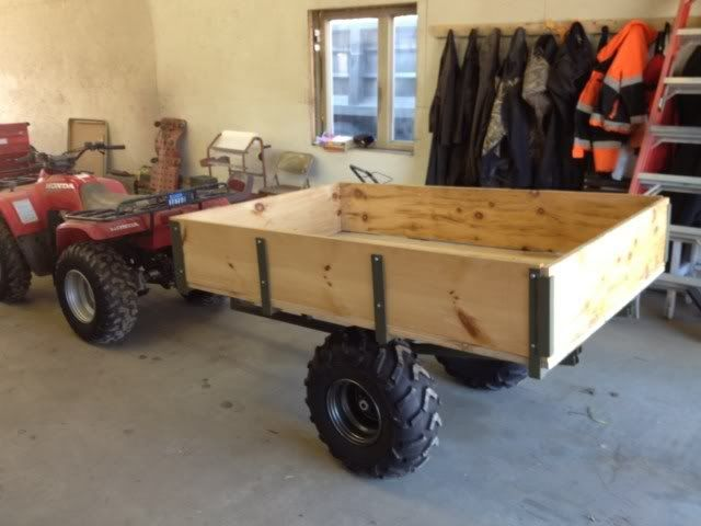 Home made dump cart tractor google search wheelhorse for Metal craft trailers parts