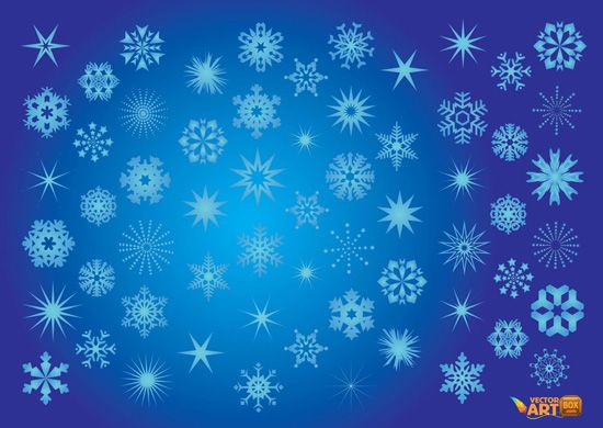 Free Set of Snowflakes Clipart | Free Graphics | Pinterest ...