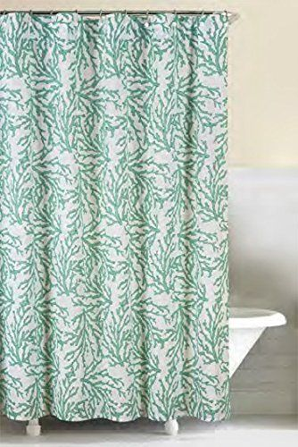 72x72 Shower Curtain Cora Seafoam Details Can Be Found By