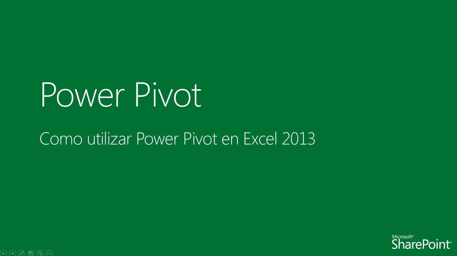 Como Utilizar Power Pivot En Excel