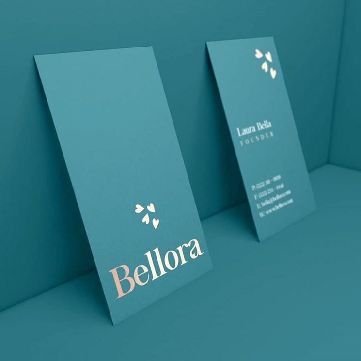 Bellora Beauty Skincare Business Card Visiting Card Design