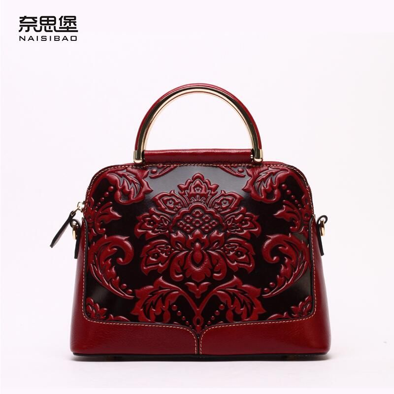 e843a2a6d3b5 Famous brand top quality Cow Leather women bag 2016 new Chinese ...