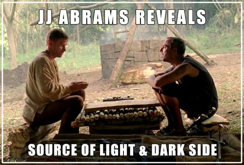 JJ Abrams reveals source of the Light & Dark Side - More at: Me Kago De Risa Help me Click Here!  #memes #lol #funny #jokes