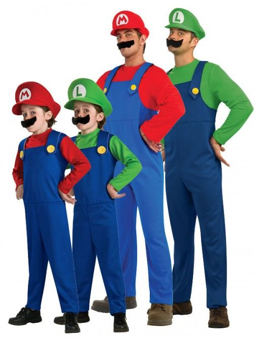 New Adult Men Super Mario Luigi Bros Plumber Brothers Fancy Dress Outfit Costume